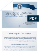 Federal Information Technology FY 2014 Budget Priorities
