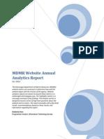 2012 Website Annual Analytics Report