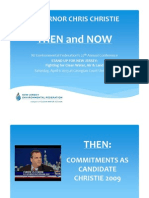 Governor Chris Christie, Then and Now - NJEF Presentation