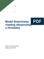 IRO Model Financiranja Visokog Obrazovanja u Hrvatskoj 2010