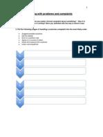 ESL Problems and Complaints Worksheet