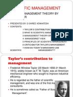 f w Taylor s Contibution Towards Management