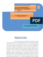 Plan Recursos Humanos y Materiales 2011 - Defensa Civil