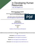 Measuring Human Capital