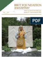 Tibet Foundation  Newsletter Summer -Autumn 2009