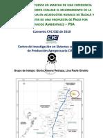 Compensación por Servicios Ambientales Alcalá y Ulloa, Valle del Cauca.
