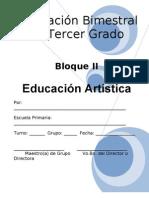 3er Grado - Bloque 2 - Educación Artística