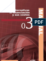 Capítulo 3 Alternativas de Financiación y sus costes
