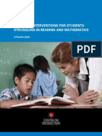 Intensive Interventions for Students Struggling in Reading & Math