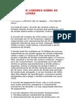 ACORDO DE LONDRES SOBRE AS DÍVIDAS ALEMÃS  -  23.2.1953