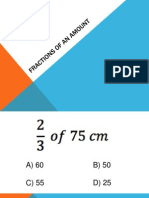 Fractions of an Amount Powerpoint Quiz