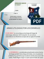 TIPOS DE ARMAS DE LOS ESPAÑOLES DURANTE LA CONQUISTA