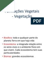 Formações vegetais