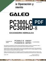 Manual Operacion Mantenimiento Excavadora Hidraulica Pc300lc Hd8 Komatsu