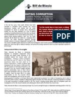 DeBlasio Anti Corruption Reforms