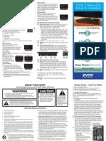 ZVOX Z-Base 555 Manuals