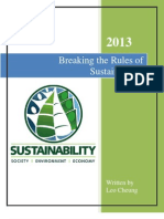 Breaking the Rules of Sustainability