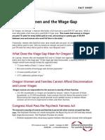 Oregon Women and the Wage Gap Fact Sheet
