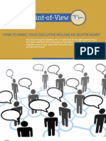 ExecuNet a Peer Point of View Resume Recruiter Ready 2012