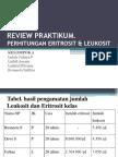 Review Hitung Eritrosit & Leukosit