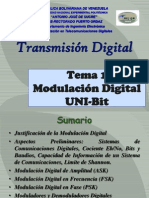 Tema 1 Modulacion Digital Uni Bit