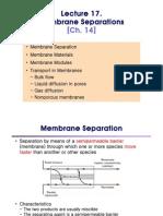 Membrane Lecture 1