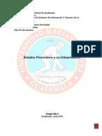 Investigacion Estados Financieros y Su Interpretacion