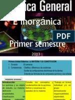 Primera Unidad Quimica General e Inorganica 2013