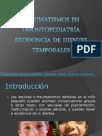Traumatismos y Exodoncia en Odontopediatria