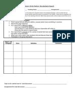 rdg wlrc role  worksheet- vocabulary expert
