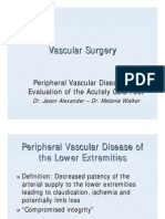 Peripheral Vascular Disease of the Lower Extremities