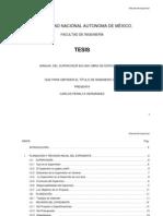 Manual de Supervision en Una Obra de Edificacion