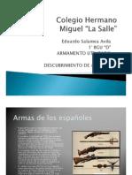 armas de los españoles en la conquista