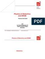 Physics of Dielectrics and DRAM