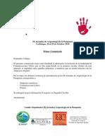 Primer Comunicado IX Jornadas de Arqueología de la Patagonia