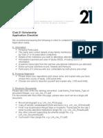 Club 21 Scholarship Application Checklist