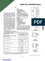 Data Sheet IC CD4017BE
