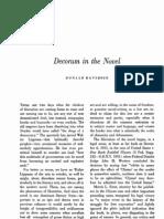 Davidson Decorum in the Novel (1964-65)