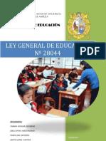 monografia ley general de educación