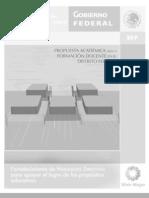 Propuesta Academica Para Formacion Docente DF