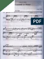 Cantabile et Presto Georges Enesco