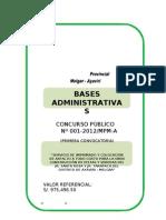 Bases Administrativas Concurso Publico