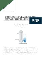 EJEMPLO DE CALCULO DE EVAPORADORES