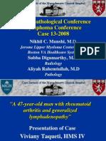 Case 13-2008-Rheum Arthritis, Lymphadenopathy