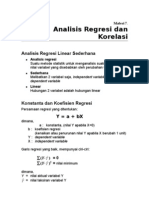 Materi 8. Analisis Regresi Dan Korelasi