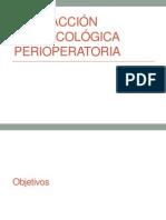 Interacción farmacológica perioperatoria