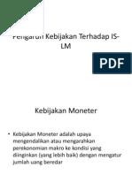 Kuliah IV Kebijakan Monete Dan Fiskal Terhadap is-LMr