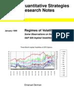 Regimes of Volatility - Derman