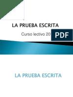 Prueba Escrita 2013