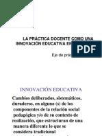 La práctica docente como innovación